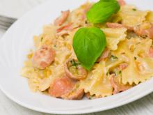 Farfalle with Chorizo and Zucchini