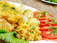 Chicken with Mayonnaise and Corn