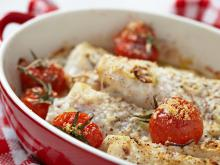 Fish with Potatoes Pudding