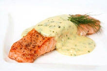 Salmon with Cream in the Oven