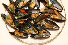 Pan-Fried Mussels