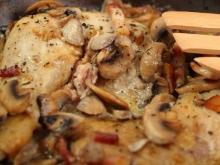Chicken Stew with Mushrooms and Wine