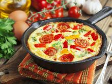 Italian Omelette with Peppers and Tomatoes