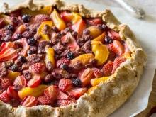 Open Faced Pie with Fruits