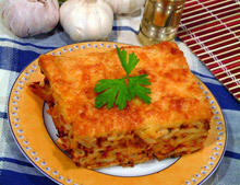 Lasagna with Cheese and Smoked Fillets