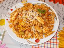Fusilli with Chicken and Amazing Sauce