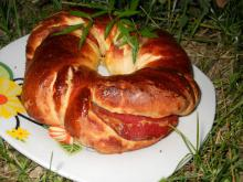 Appetizing Bagels with Lukanka Salami