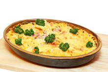 Gratin with Potatoes and Bacon