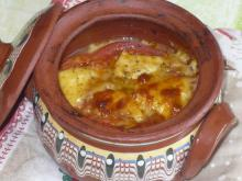 Easy Clay Pot Dish with Tomatoes, Feta Cheese and Cheese
