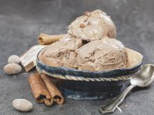 Homemade Ice Cream with Coffee and Ginger