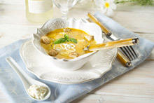Dairy Potato Cream Soup with Chicken