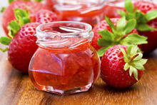 Strawberry Jam with Blackcurrant Juice