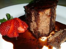 Cocoa Cake with a Glaze