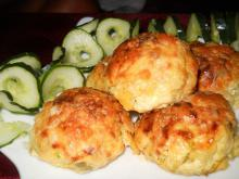 Potato Balls with Zucchini and Cottage Cheese