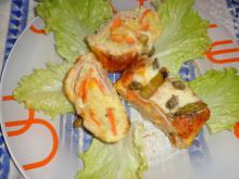 Roll of Boiled Potatoes with Tasty Filling