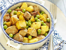 Oven Pork Stew with Potatoes and Peas