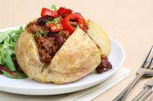 Stuffed Potatoes with Minced Meat