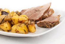 Potatoes with Meat in the Oven