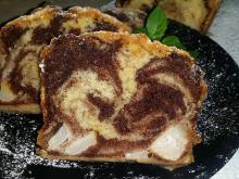 Irresistible Marble Cake with Pears