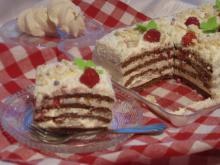 Coconut Cake with Meringues and Raspberries