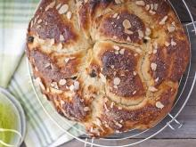 Cozonac Loaf with Turkish Delight and Almonds