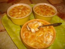 Creme Caramel with Macaroni
