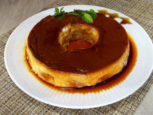 Creme Caramel with Biscotti