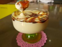 Sabayon Cream with White Chocolate