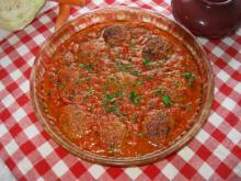 Meatballs with Cabbage in Tomato Sauce