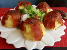 Potatoes with Cheese and Jamon