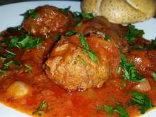 Oven-Baked Meatballs with Sauce