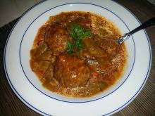 Meatball Stew with Green Beans