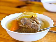 Clear Kurban Soup of Lamb Meat