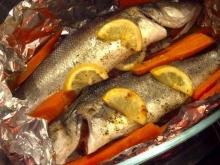 Stuffed Bass with Tomatoes