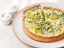 Tart with Leeks and Feta Cheese