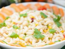 Macaroni with Leeks and Corn