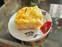 Macaroni with Eggs and Feta Cheese
