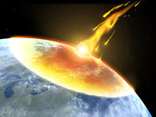 Asteroids, Antarctica and the exclusion Dinosaurs?