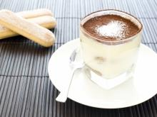 Dairy Mocha Cream with Biscotti