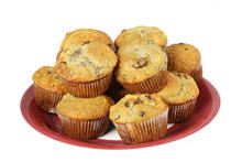 Muffins with Bananas, Walnuts and Oats