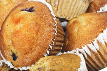 Coconut Muffins with Banana and Raisins