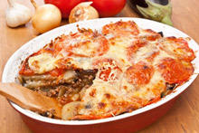 Moussaka with Eggplant and Tomatoes