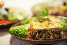 Moussaka with Zucchini and Rice