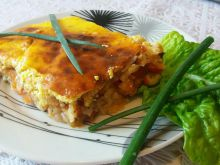 Moussaka with Zucchini, Rice and Tomatoes