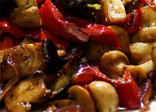 Pan Fried Marinated Mushrooms