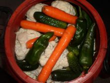 Mixed Pickle in a Drum