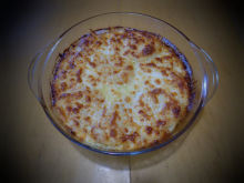 Gratin with Potatoes, Feta Cheese and Cheese