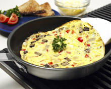 Omelette with Mushrooms and Ham