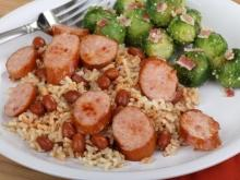 Oven Baked Rice and Beans with Sausage
