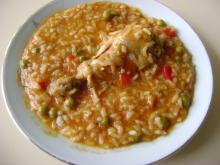 Rice with Chicken Legs and Peppers
